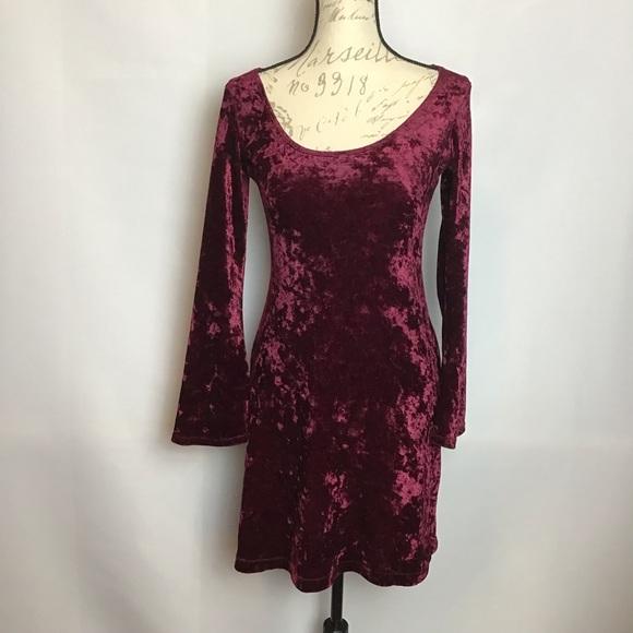 Morbid Threads Dresses & Skirts - Morbid Threads- Crushed Velvet Skater Dress
